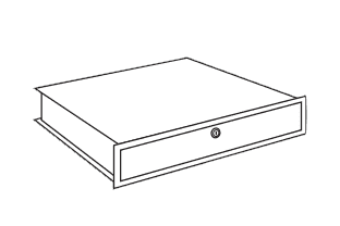 afsluitbare lade voor modellen DPC 400W en 670 | LIPS Brandkasten